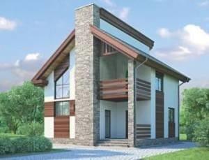 Проект бетонного дома 98-35