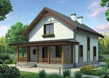 Проект бетонного дома 22-55