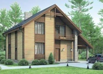 Проект бетонного дома 23-45