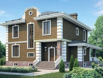 готовые проекты двухэтажных домов