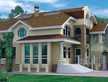 проект комбинированных домов дерево