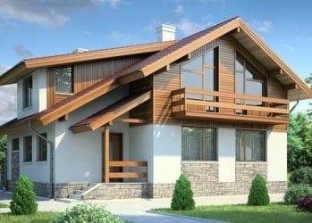 Проект бетонного дома 48-35