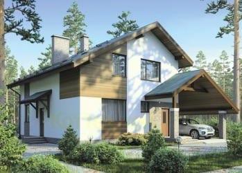 Проект бетонного дома 64-55