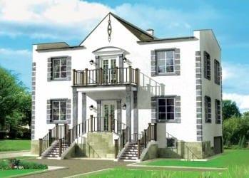 Проект бетонного дома 88-25