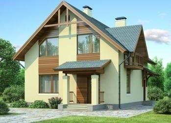 Проект бетонного дома 89-35