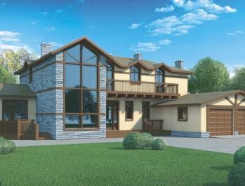Проект бетонного дома 97-33