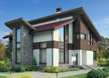 Проект бетонного дома 97-45