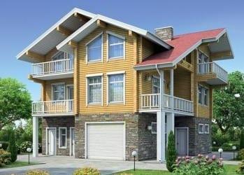 Проект деревянного дома 02-21
