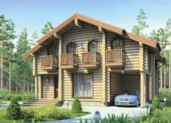 Проект деревянного дома 03-21