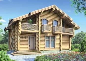 Проект деревянного дома 13-21