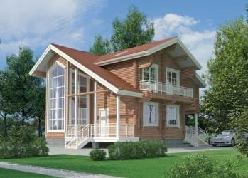 Проект деревянного дома 21-11