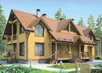 Проект деревянного дома 23-21