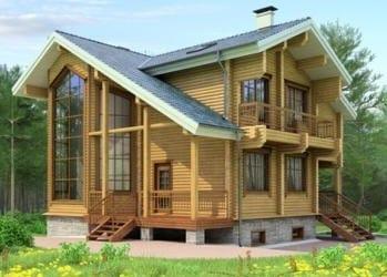 Проект деревянного дома 27-11