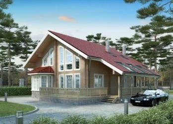 Проект деревянного дома 30-11