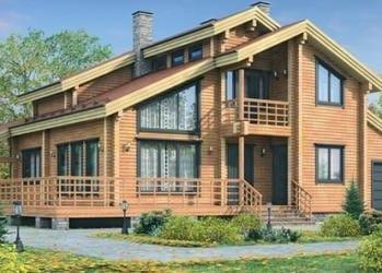 Проект деревянного дома 30-21