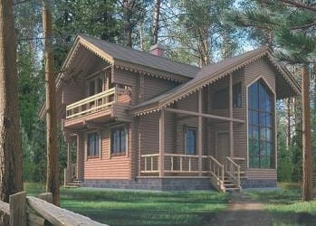 Проект деревянного дома 33-01
