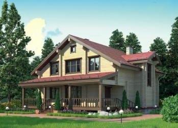 Проект деревянного дома 42-21