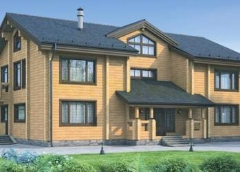 Проект деревянного дома 50-21