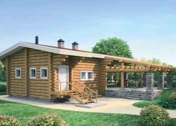 Проект деревянного дома 51-21