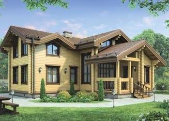 Проект деревянного дома 52-21