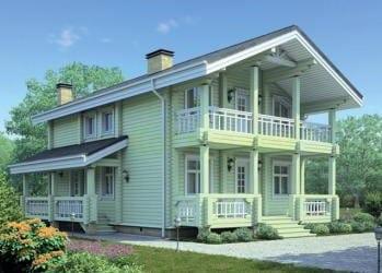 Проект деревянного дома 53-21