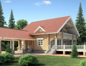 Проект деревянного дома 54-11