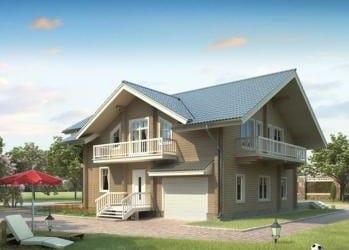 Проект деревянного дома 56-11