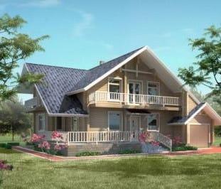 Проект деревянного дома 79-01