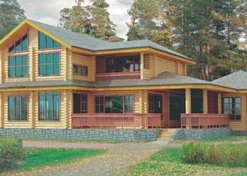 Проект деревянного дома 80-01