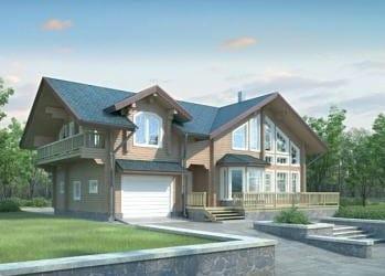 Проект деревянного дома 90-11