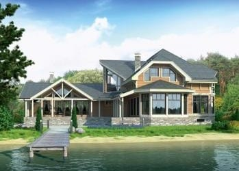 Проект деревянного дома 91-21