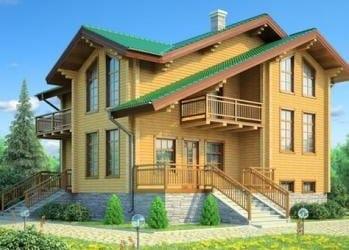 Проект деревянного дома 97-11