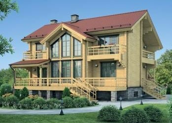 Проект деревянного дома 99-11