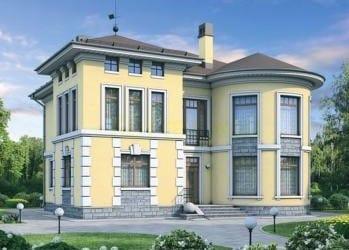 Проект кирпичного дома 03-73