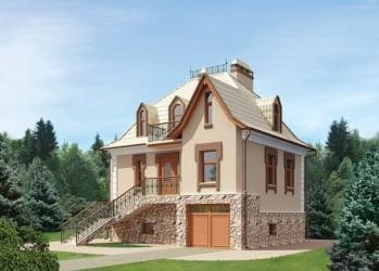 Проект кирпичного дома 05-53