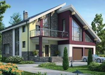 Проект кирпичного дома 05-73