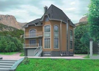 Проект кирпичного дома 12-23