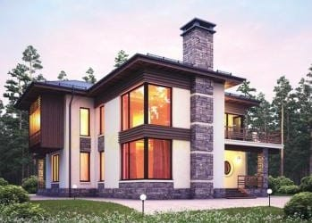 Проект кирпичного дома 14-83