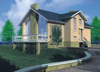 Проект кирпичного дома 15-23