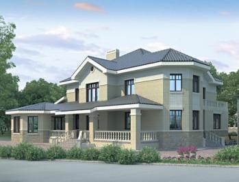Проект кирпичного дома 17-53