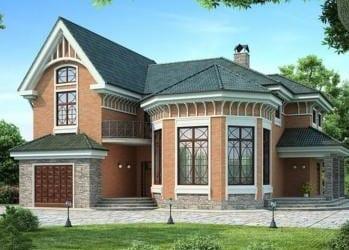 Проект кирпичного дома 18-63