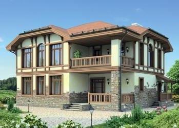 Проект кирпичного дома 20-83