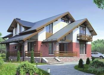 Проект кирпичного дома 24-83