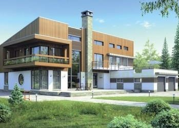 Проект кирпичного дома 26-83