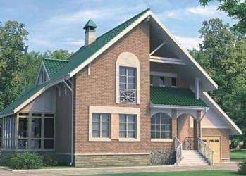 Проект кирпичного дома 32-43