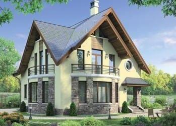 Проект кирпичного дома 33-83