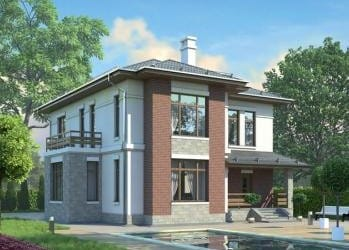 Проект кирпичного дома 36-83