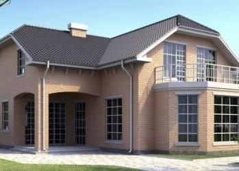 Проект кирпичного дома 43-43