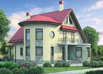 Проект кирпичного дома 43-73