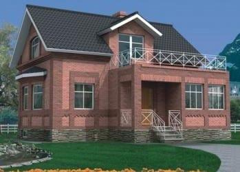Проект кирпичного дома 44-13